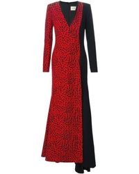 Fausto Puglisi - Red Leopard Print Stretch Silk Gown - Lyst