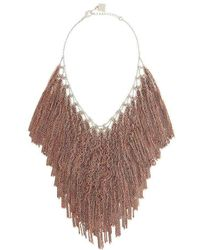 BCBGMAXAZRIA - Bcbg Maxazria Lattice Woven Bib Necklace - Lyst