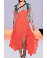 BCBGMAXAZRIA - Bcbg Maxazria Runway Bright Ambrosia Kaia Color Blocked Dress - Lyst