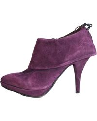 Latitude Femme - Purple Suede Booties - Lyst