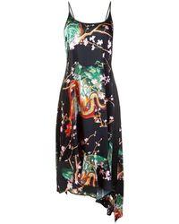 Paco Rabanne - Printed Asymmetric Dress - Lyst