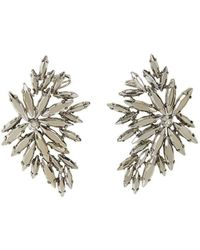 BCBGMAXAZRIA - Bcbg Maxazria Floral Silver Statement Earrings Jdkje771-x09 - Lyst