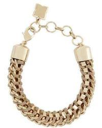 BCBGMAXAZRIA - Bcbg Maxazria Box Beige Chain Bracelet - Lyst