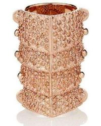 Vivienne Westwood - Pink Copper Diamante Armour Gladiator Ring Sz M - Lyst