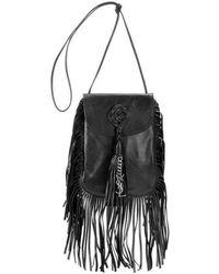 Saint Laurent - Ysl Anita Fringe Leather Shoulder Bag - Lyst