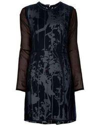 3.1 Phillip Lim - 3.1 Silk Foral Black Dress - Lyst