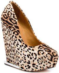 L.A.M.B. - Elegant 'dorothee' Leopard Print Wedge - Lyst