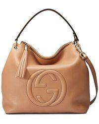 Gucci - Soho Large Leather Cellarius Bag, Camelia - Lyst