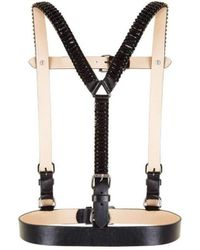 BCBGMAXAZRIA - Stone Embellished Faux-leather Harness - Lyst