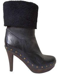 Paloma Barceló - Black Leather Boots - Lyst
