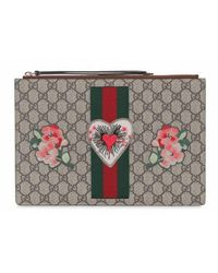 b17d9ba0d Gucci Neo Vintage Gg Supreme Wallet - Lyst