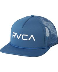 Lyst - Rvca Washburn Trucker Hat in Blue for Men 5a1c87123fb