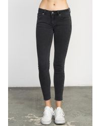 RVCA - Dayley Mid Rise Denim Jeans - Lyst
