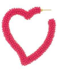 Sachin & Babi - Heart Hoop - Fuchsia - Lyst