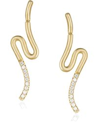 Carelle - Brushstroke Diamond & 18k Yellow Gold N? 51 Earrings - Lyst