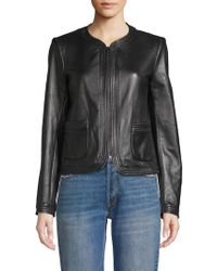 Rebecca Taylor - Leather Jacket - Lyst