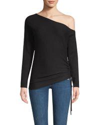 Ramy Brook - Samantha One-shoulder Silk & Merino Wool Sweater - Lyst