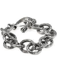 King Baby Studio - Sterling Silver Engraved Single Link Toggle Bracelet - Lyst
