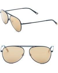 Web - 58mm Aviator Sunglasses - Lyst
