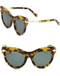 Karen Walker - Miss Lark 52mm Cat Eye Sunglasses - Lyst
