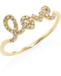 Sydney Evan - Love Diamond & 14k Yellow Gold Ring - Lyst