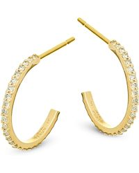 Lana Jewelry - Flawless Mini Diamond & 14k Yellow Gold Hoop Earrings - Lyst