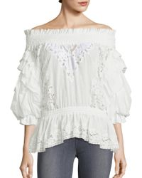 Faith Connexion | Ruffled Off-the-shoulder Top | Lyst