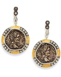 Coomi - Coin Diamond, 20k Yellow Gold & Sterling Silver Drop Earrings - Lyst