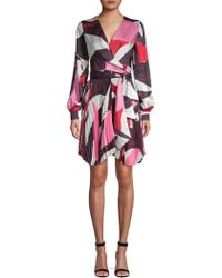 DELFI Collective - Camille Geometric Print Wrap Dress - Lyst