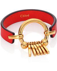 Chloé | Marin Fringe Leather Bracelet | Lyst