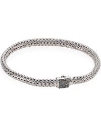 John Hardy - Classic Chain Extra Small Grey Sapphire & Sterling Silver Bracelet - Lyst