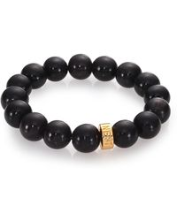 Nest - Black Horn Beaded Stretch Bracelet - Lyst