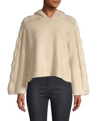 Alice + Olivia - Laticia Knit Cropped Hoodie - Lyst