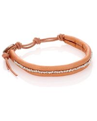 Chan Luu - Sterling Silver & Leather Beaded Wrap Bracelet - Lyst