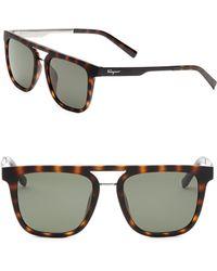 Ferragamo - Square Sunglasses - Lyst