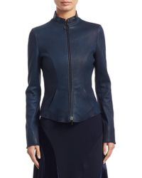 Akris Punto - Fitted Leather Jacket - Lyst
