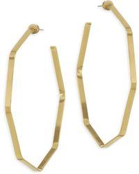 Jennifer Zeuner   Angular Gold Hoops   Lyst