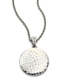 John Hardy - Palu Sterling Silver Pendant Necklace/22 - Lyst
