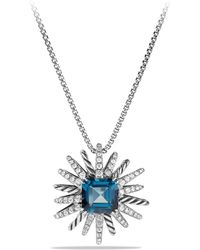 David Yurman - Starburst Necklace With Diamonds In Silver, 23mm - Lyst