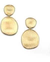Marco Bicego - Lunaria 18k Yellow Gold Double-drop Earrings - Lyst