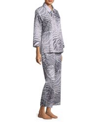 Natori - Printed Cotton Pyjama Set - Lyst