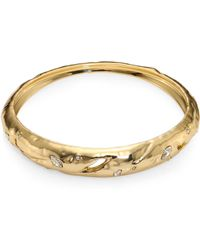 Alexis Bittar | Elements Rocky Tapered Crystal Bangle | Lyst