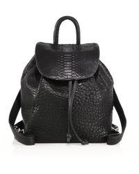 Mr. - Parker Bubble Leather & Python Backpack - Lyst