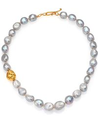 Lena Skadegard - Jumbo Gray Baroque Pearl Necklace - Lyst