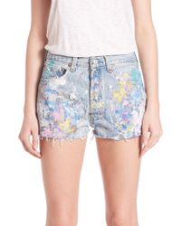 Rialto Jean Project - 501 Basic Midrise Splatter Cut-off Shorts - Lyst