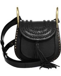 chloe hudson mini tasseled suede crossbody bag