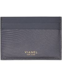 Vianel - Lizard & Leather Card Case - Lyst
