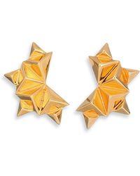 Tomtom - Chevron Prix Spiked Stud Earrings - Lyst