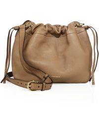 826c21d7f776 Burberry - Bingley Derby Leather   House Check Crossbody Bag - Lyst