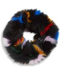 Loeffler Randall - Multicolor Fox Fur Cowl Scarf - Lyst